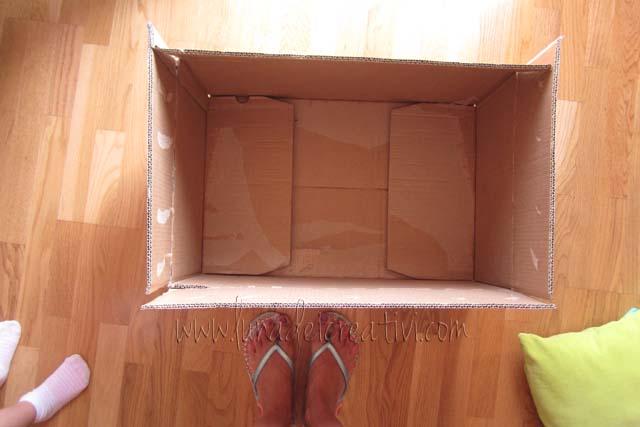 Paso 1 - Coge una caja de cartón.