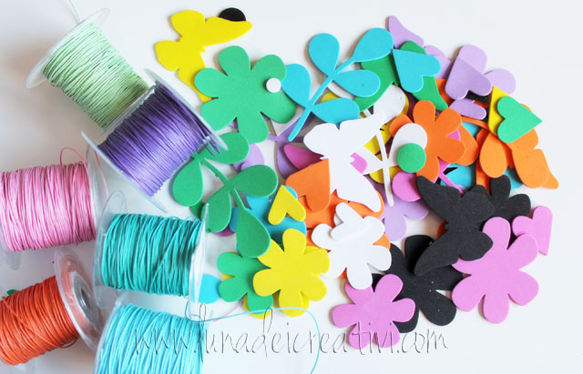 fiori foamy e cotoni colorati